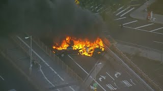 Chopper 2 Over Brooklyn Bridge Fire