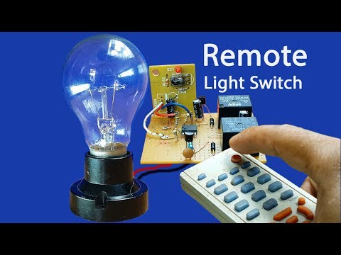 How to make easy Remote Light Switch Circuit at home - can use any remote control TV DVD