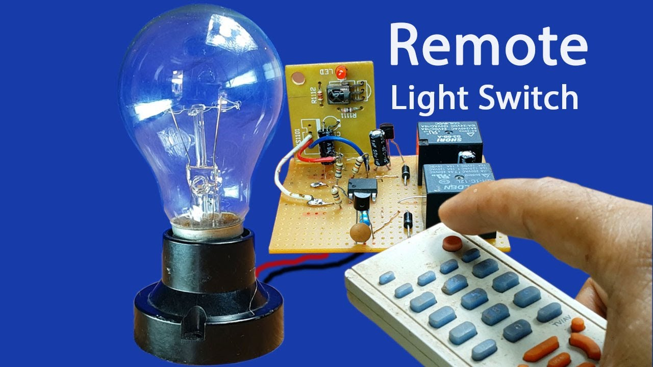 how to make easy remote light switch circuit at home can use any remote control tv dvd [ 1280 x 720 Pixel ]