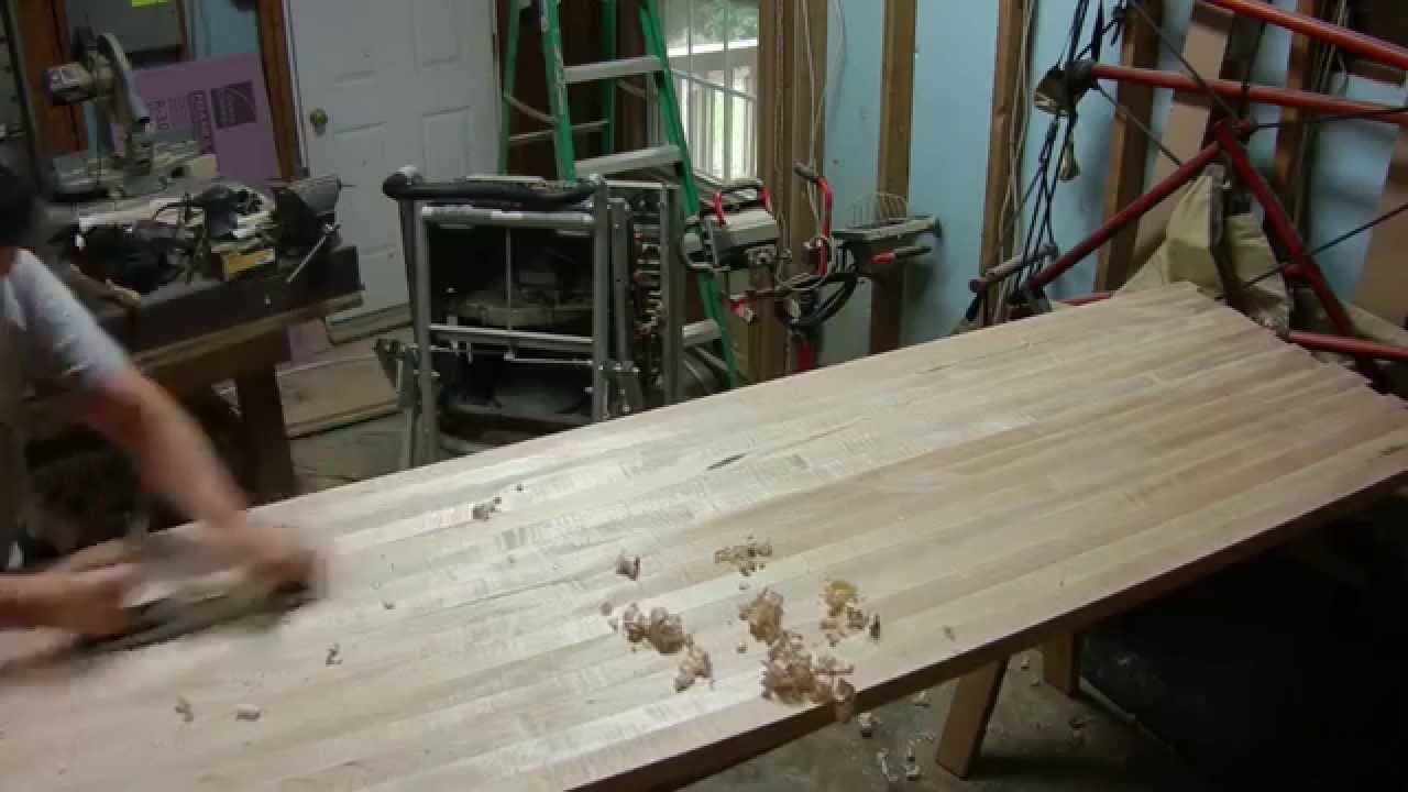 Floating And Leveling A Long Grain Butcher Block Table