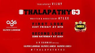 BREAKING: Thalapathy 63 Official First Look Poster Release Date | Vijay | Nayanthara
