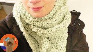 Легкий шарф на весну | Красивый узор | DIY вязание крючком
