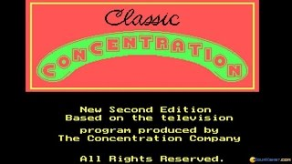 Classic Concentration 2 gameplay (PC Game, 1989)