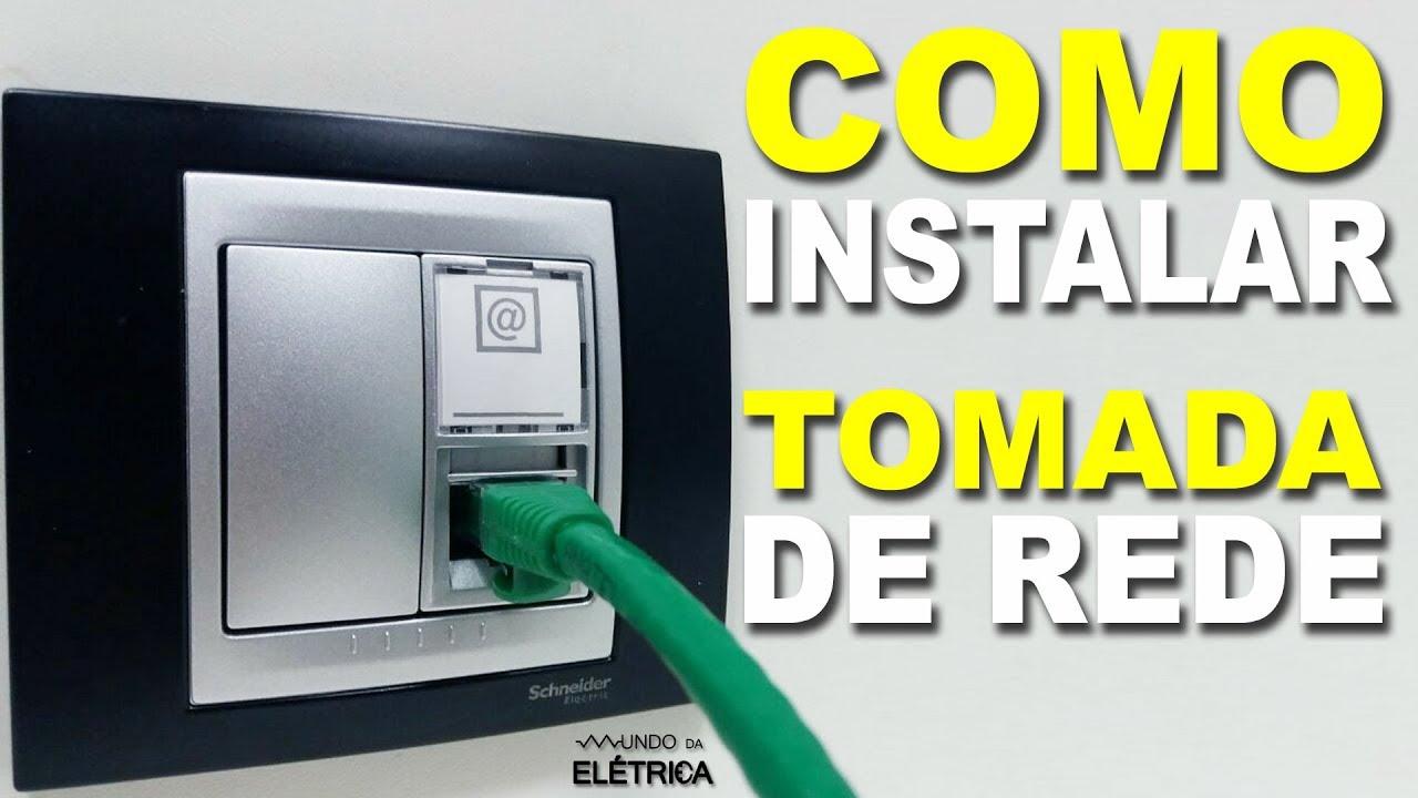 Como instalar TOMADA DE REDE RJ45