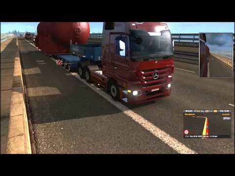 [Special Transport DLC] Over-sized Cargo Transport in Heavy Thunderstorm (Euro Truck Simulator 2 )