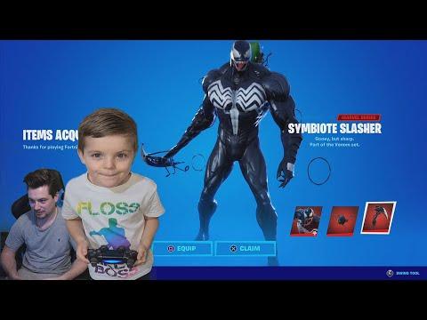 TRUMAnn Giving His 7 Year Old Kid VENOM Skin Bundle! UNLOCKING NEW Fortnite Bundle VENOM! (Marvel)
