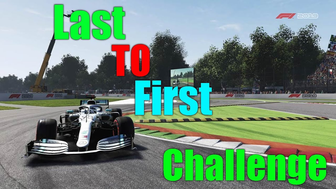 F1 2019 Game Monza Last to First Challenge (can i do it in ...