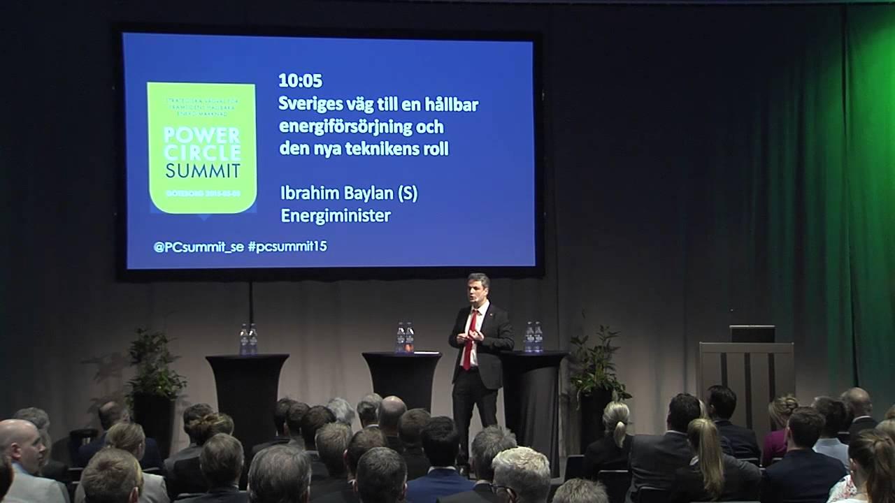 Sveriges väg till en hållbar energiförsörjning och den nya teknikens roll  Ibrahim Baylan