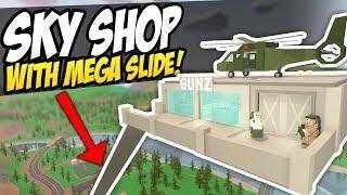 SKY SHOP WITH MEGA SLIDE - Unturned Gun Store   Shop Roleplay!