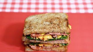 초간단 에그 베이컨 샌드위치 만들기