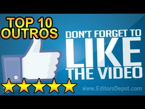 Best Top 10 Free Outro Templates Sony Vegas After Effects