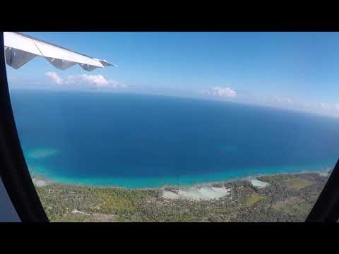 Air Tahiti Flight (HD): Papeete to Rangiroa, French Polynesia - amazing take off and landing video