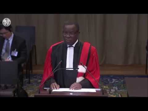 20-02-2018 - Maurice KAMTO prend la parole à la CIJ au nom de la Guinée Equatoriale contre la France