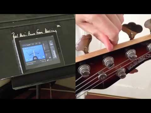 Tune StingRay 5 string bass with VITALtuner (best tuner app)