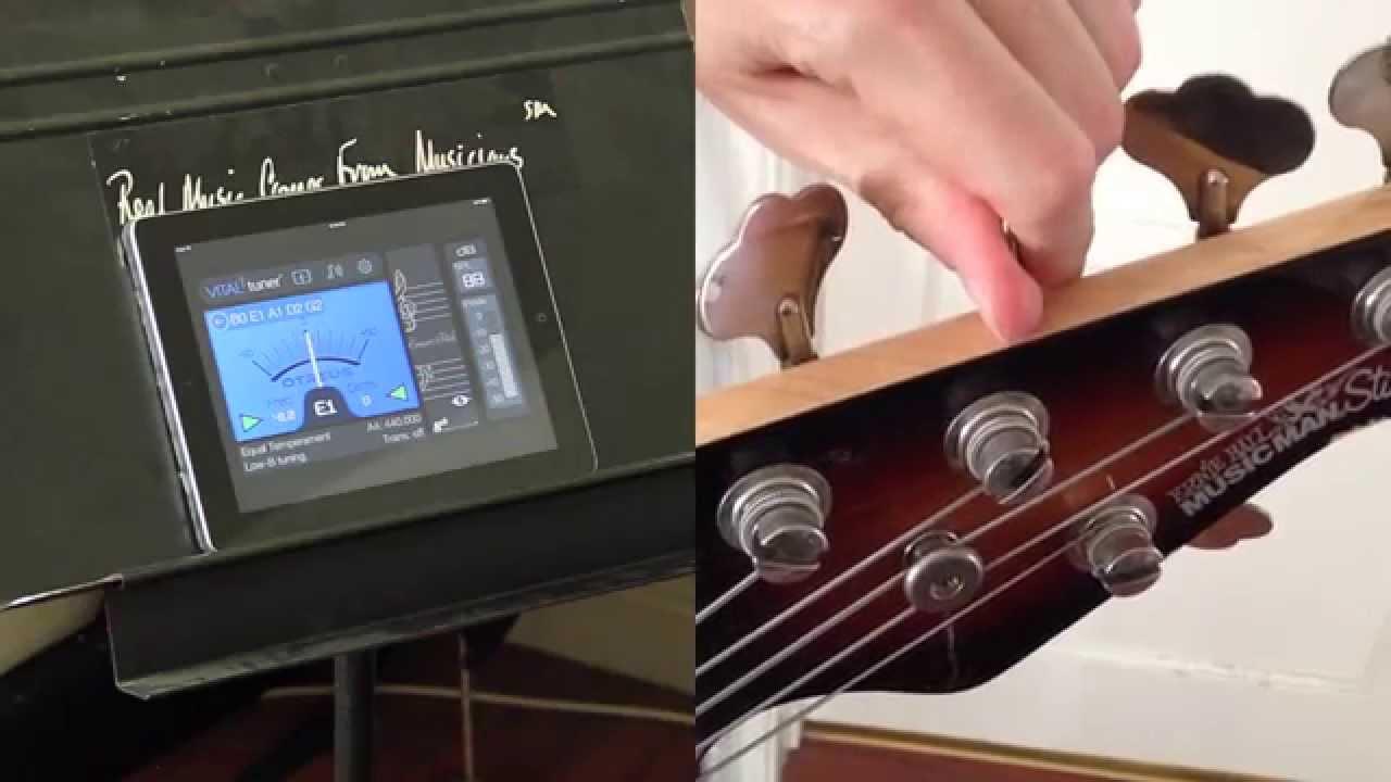 tune stingray 5 string bass with vitaltuner best tuner app youtube. Black Bedroom Furniture Sets. Home Design Ideas
