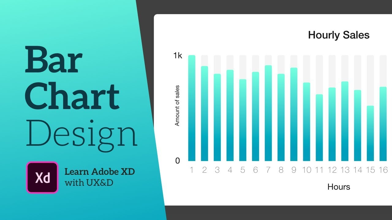 Adobe XD tutorial | How to design a bar chart!