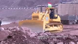 Начало строительства плотины Рогунской ГЭС(, 2016-10-31T05:23:33.000Z)
