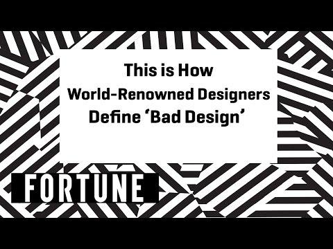 This is How World-Renowned Designers Define 'Bad Design' | Brainstorm Design 2017 | Fortune
