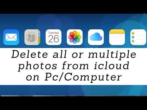 How to delete all photos from icloud library