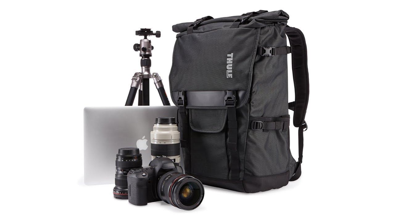 Camera bags - Thule Covert DSLR Rolltop Backpack - YouTube