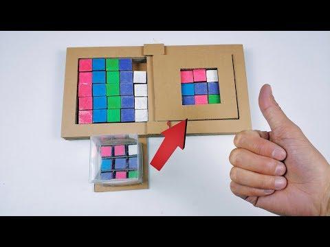Cardboard produced creative toys, DIY color puzzle game