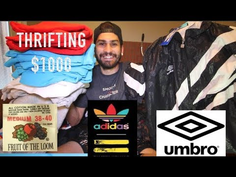 TRIP TO THE THRIFT: VINTAGE UMBRO TRACKSUITS, 20 VINTAGE CREWNECKS + MORE!!!