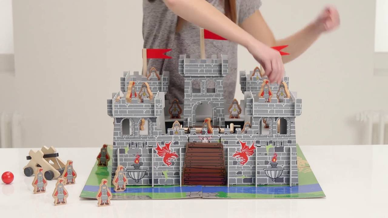 Chad Valley Wooden Castle Argos Toy Unboxing
