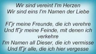 Sportfreunde Stiller - Im Namen Der Freundschaft Lyrics