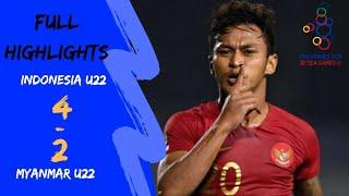 Indonesia U22  4-2  Myanmar U22 |semifinal Sepakbola Sea Games 2019|