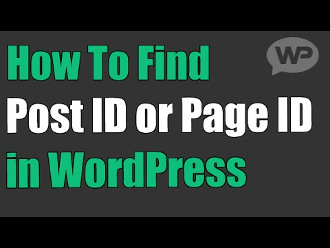 How To Find Post ID in WordPress (or Page ID)