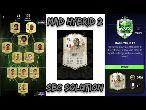 Mad Hybrid 2 Sbc Solution Madfut 21 Youtube