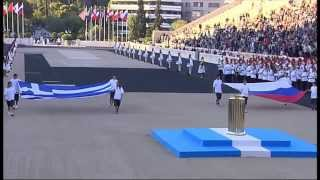 Церемония передачи Олимпийского огня российской делегации 5 октября 2013