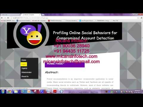 Profiling Online Social Behaviours for Compromised Account Detection