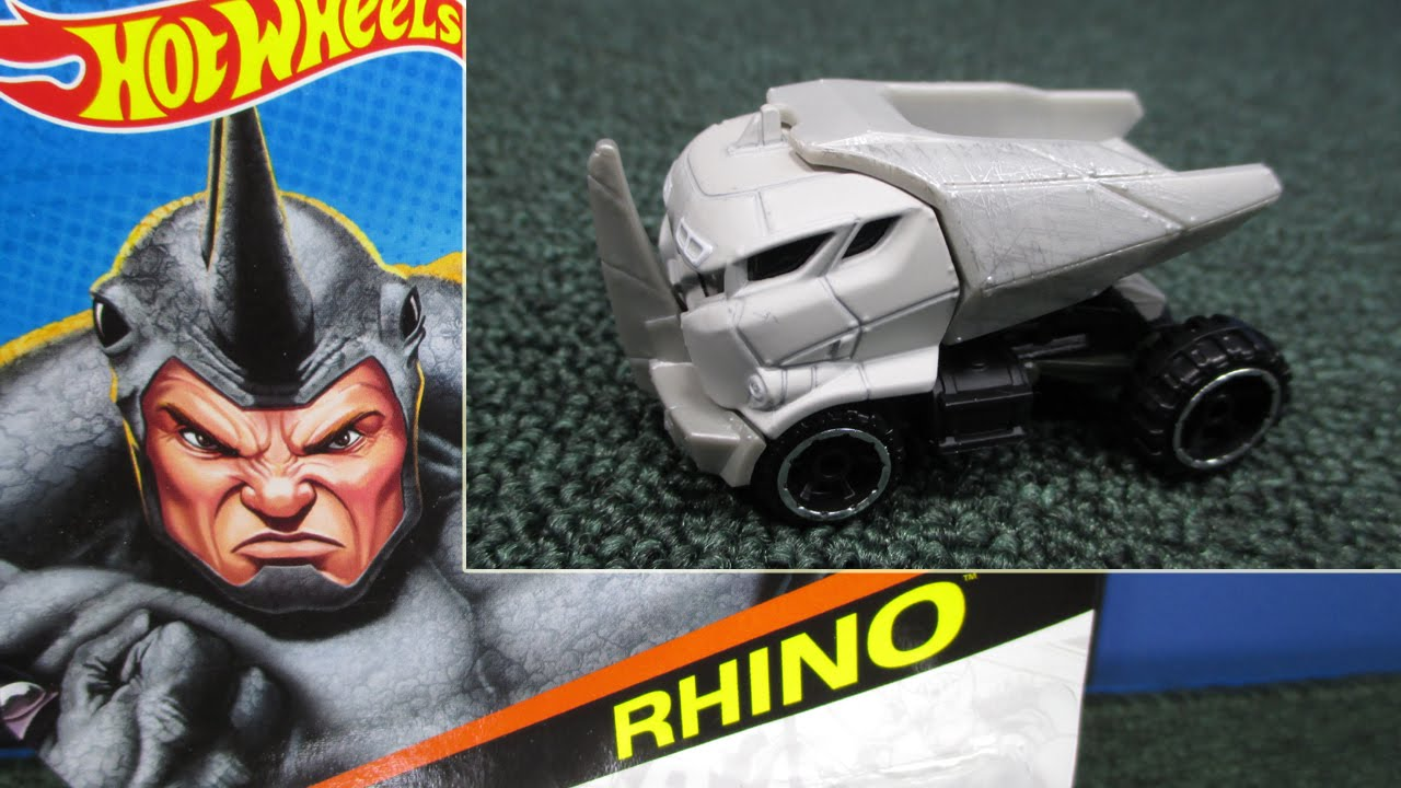 Rhino From The Hot Wheels Marvel Line Of Character Cars - YouTube