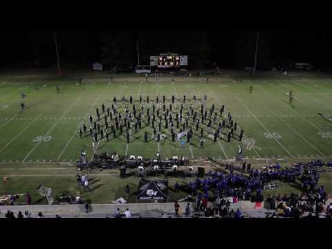 East Hall High School Viking Marching Band 10-28-2016 Half time Show Senior Night