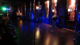 Open House Group performance at Posh-Fit Pole Dance Studio 10/26/2013 Sweet Talk Kito, Reija Lee