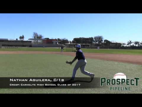 Nathan Aguilera Prospect Video, C/1b, Crespi Carmelite High School Class of 2017