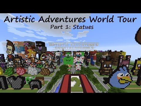 Artistic Adventures World Tour - My 300+ Minecraft Statues! (Part 1)