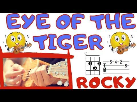 Eye Of The Tiger Rocky Ukulele Tabchords Youtube