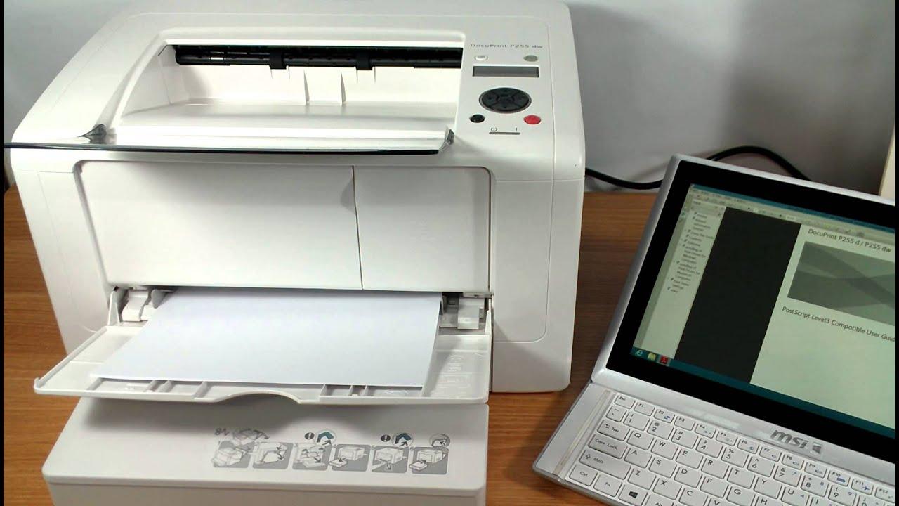 Fuji Xerox DocuPrint P255 dw Printing Test #1 - YouTube