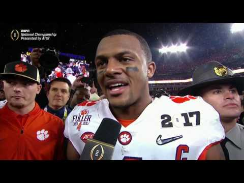 Watson emotional after Clemson's championship win