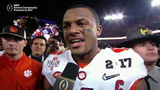 Watson emotional after Clemson