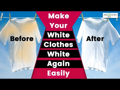 HOW TO WHITEN CLOTHES?-HOW TO EASILY WHITEN WHITE CLOTHES‼️-HOME REMEDIES TO MAKE PURE WHITE CLOTHES