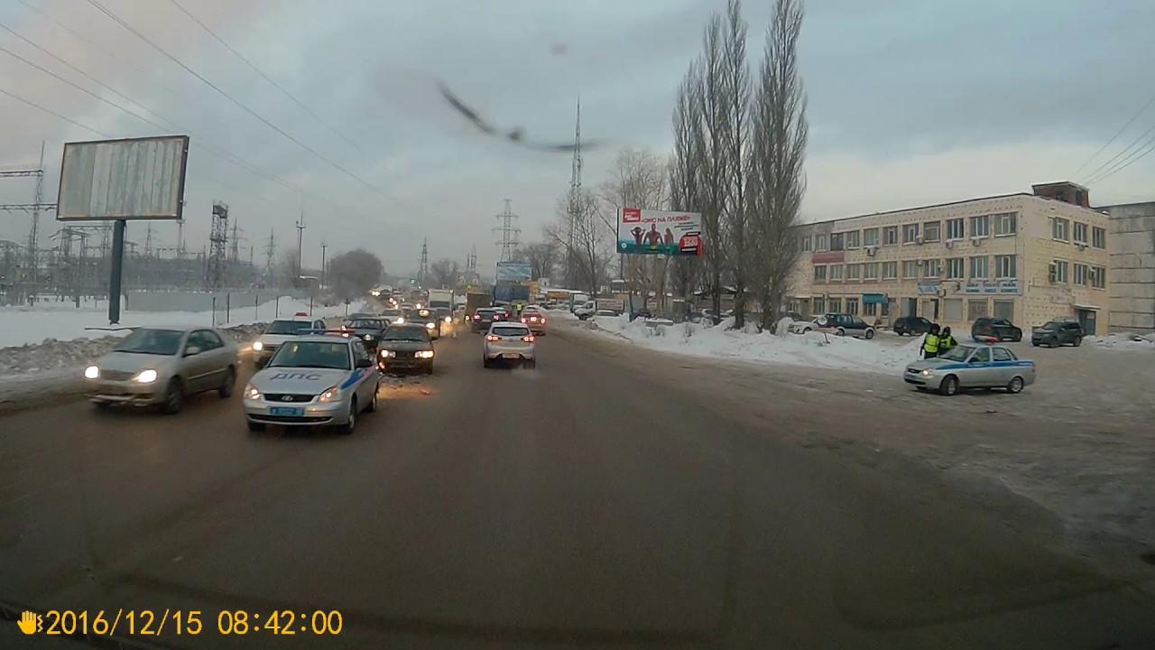 Самара. ДТП с ДПС на Ракитовском шоссе