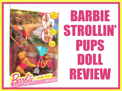 BARBIE - STROLLIN' PUPS - TARGET EXCLUSIVE - DOLL REVIEW