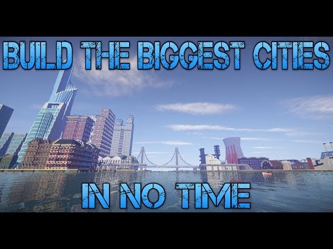 HOW TO CREATE HUGE MINECRAFT CITIES IN NO TIME