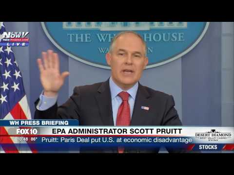 FULL: EPA Administrator Scott Pruitt Addresses Paris Climate Deal at White House Press Briefing