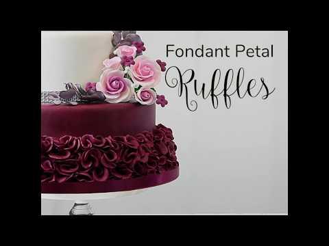 How To Make Fondant Petal Ruffles Fast Easy Cake Decorating
