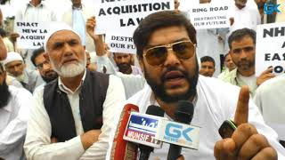 Semi-ring road land owners protest in Srinagar, demand fair compensation