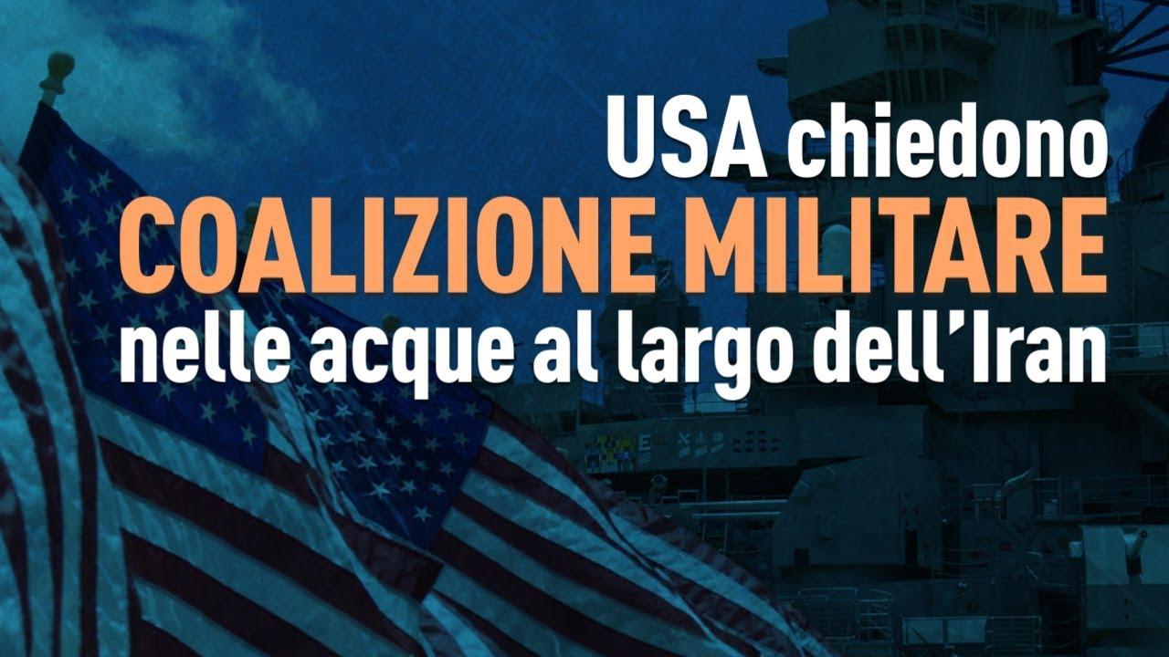PTV News - 10.07.19 - USA chiedono coalizione militare nelle acque al largo dell'Iran